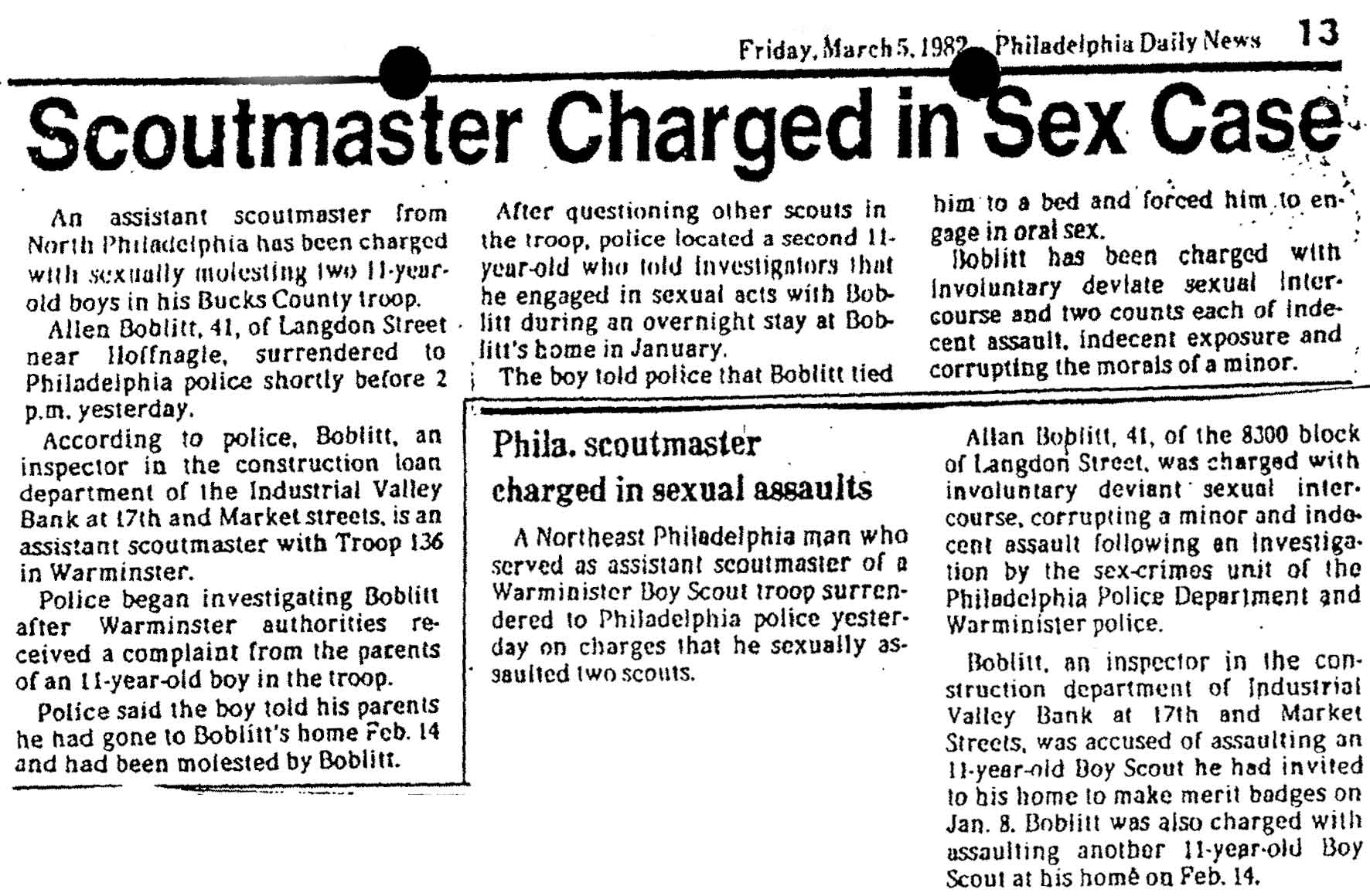 1982-03-05 Allan Boblitt Abuse Article
