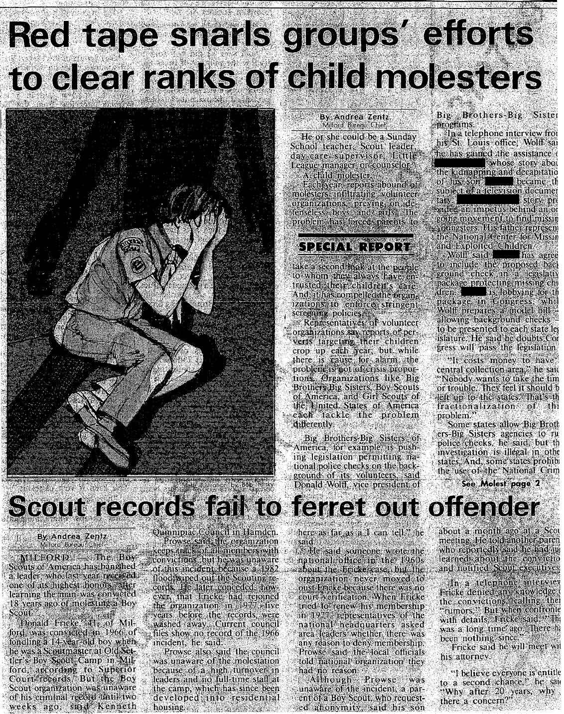 Fricke Newspaper Article